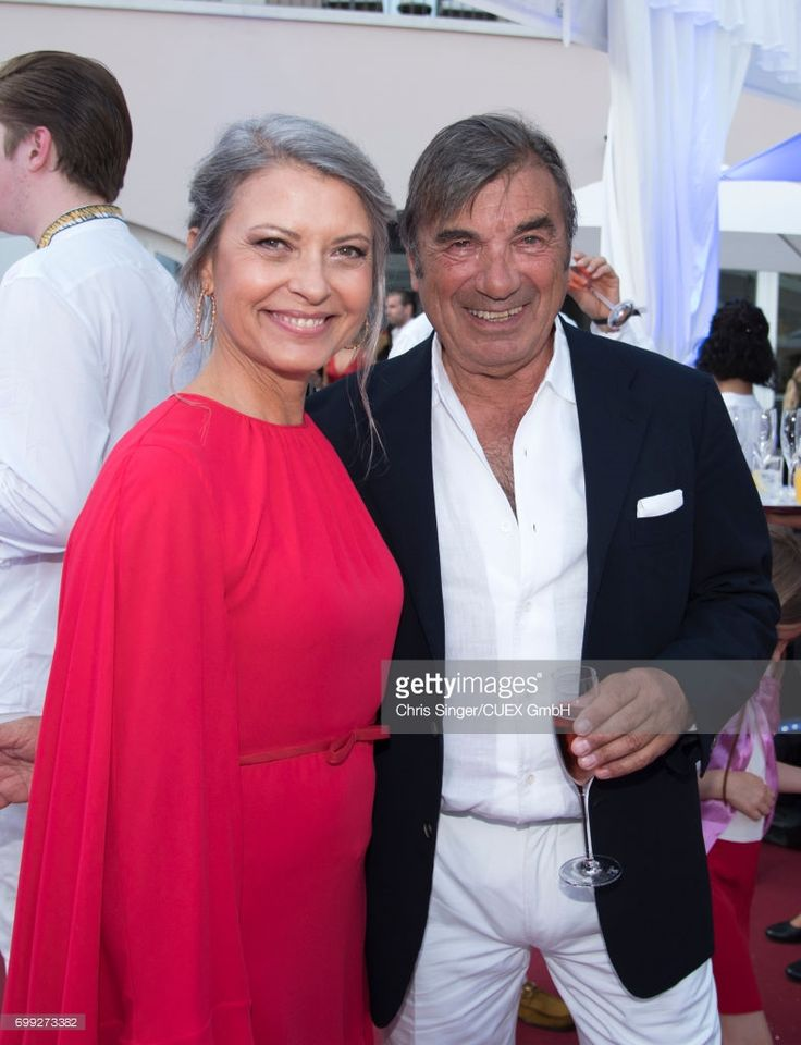 Laura De Eccher and Claudio De Eccher attend the wedding of Victoria Swarovski and Werner Muerz on June 15, 2017 in Trieste, Italy.