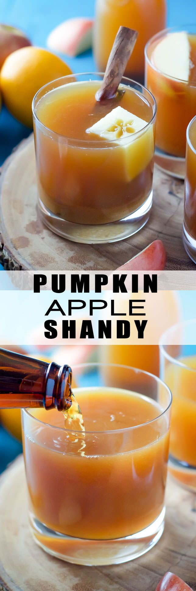 The perfect autumn cocktail, Pumpkin Apple Cider Shandy is full of apple…