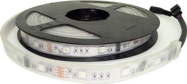 Cu cele 133 de programe prestabilite si avand posibilitatea de setare a vitezei programului de la 1 la 100, KIT BANDA LED MAGIC COLOR RGB 7.2W 12V cu telecomanda este cea mai noua si moderna solutie de iluminat ambiental.