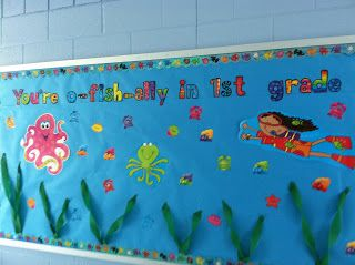 First Grade Fabulous Fish: Where it ALL Goes DOWN! -- Classroom Pictures!