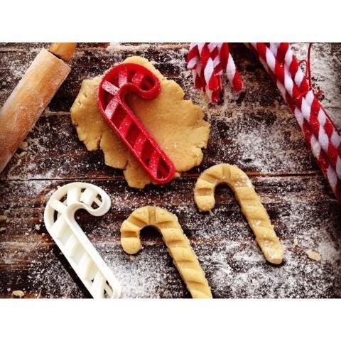 Cortador De Biscoito De Natal Em Forma De Bengala - 3d