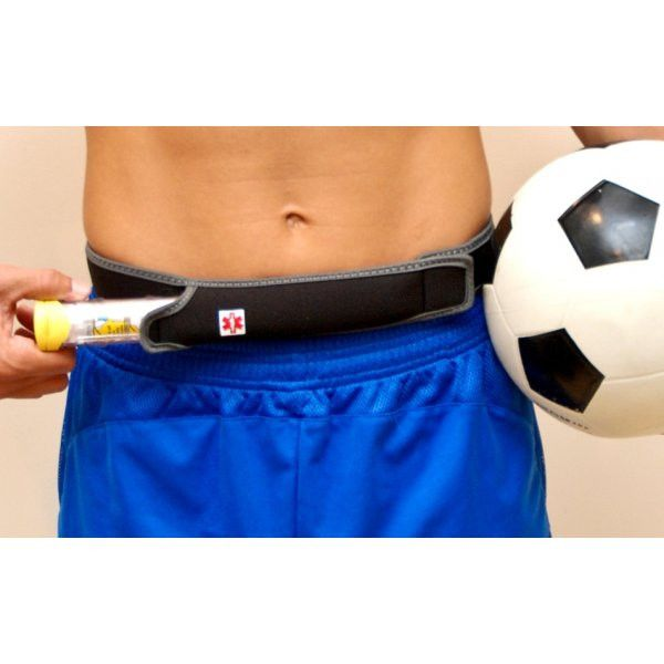 Teens and Adults Athletic Epi pen WaistPal™ Body Wear with no buckles.