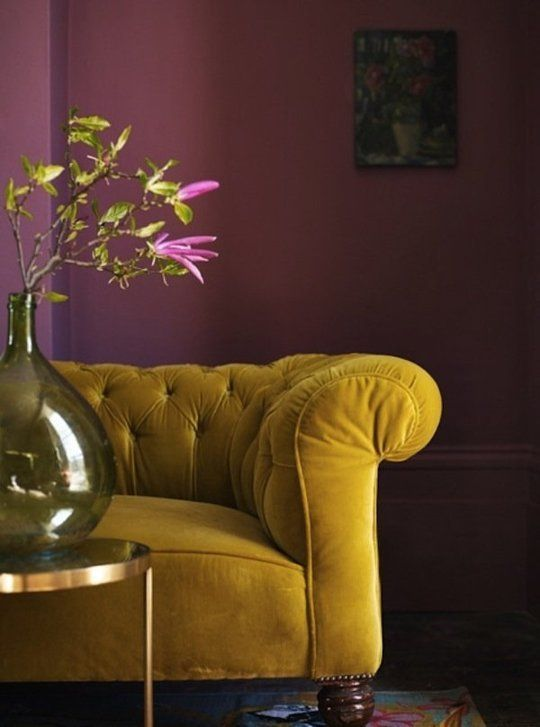 Cool Color Combo: Mustard & Pink | Apartment Therapy