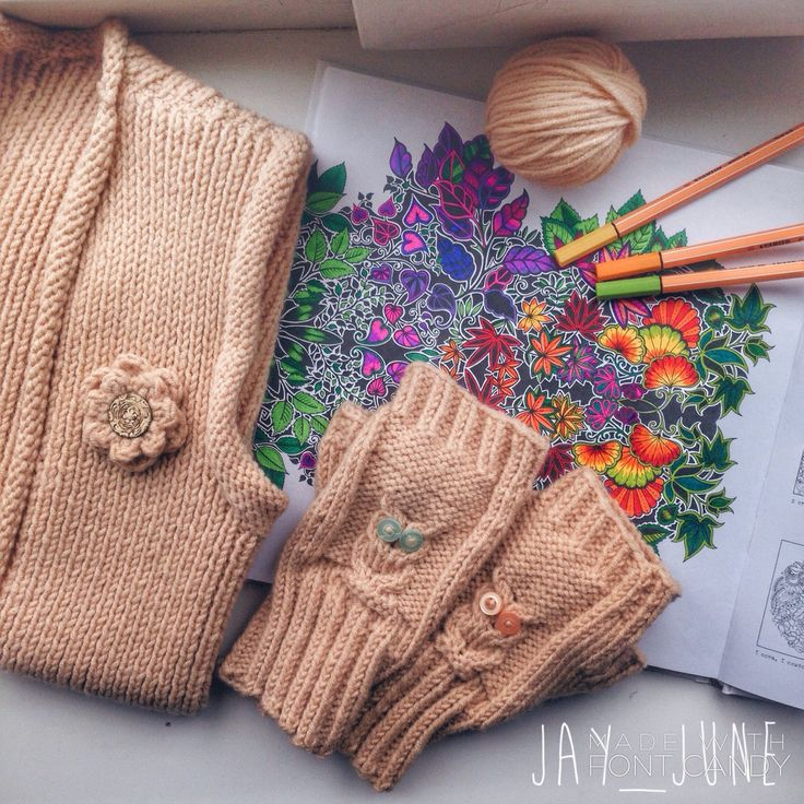 Owl mittens | Knit vest | Knitting | Johanna Basford