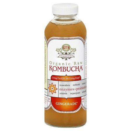 GT's Enlightened Gingerade Organic Raw Kombucha 16 oz : Target