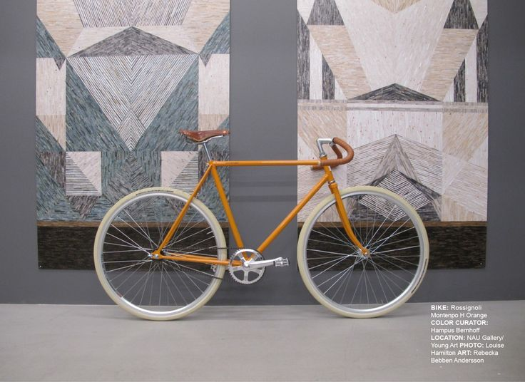 "Rossignoli Montenapo ""H Orange"", Single Speed, By Color Curator Hampus Bernhoff via Themocracy. Click on the image to see more!"