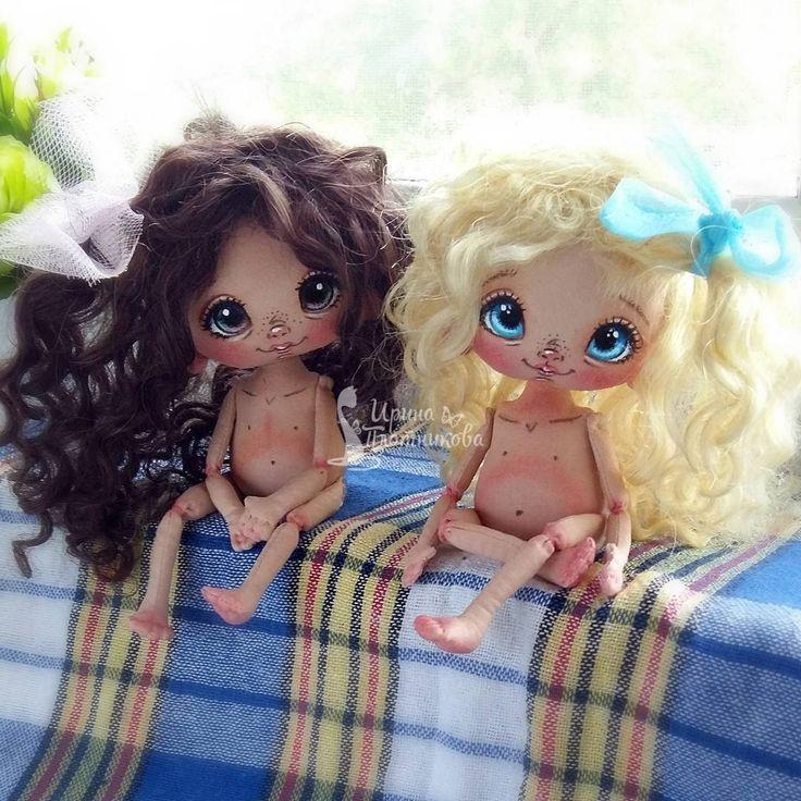 Инь и Янь) Блондиночка на заказ,а вот темненькая детка на днях будет искать маму на аукционе #Сладошки_от_Ириски  #кукларучнойработы  #авторскаяработа