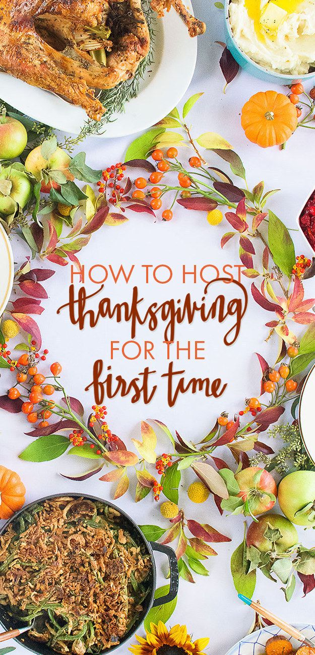 First, start by figuring out what you want to cook. This easy menu for first-time hosts is a great place to start. | 18 Easy Ways To Make Hosting Thanksgiving Dinner Less Stressful @buzz