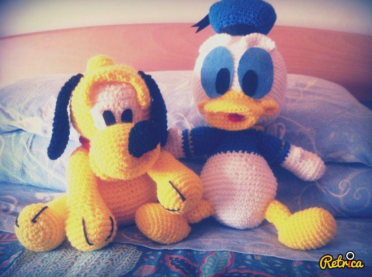 Amigurumi Donald Duck : Baby Pluto & Donald Duck Amigurumi Amigurumi Collection ...