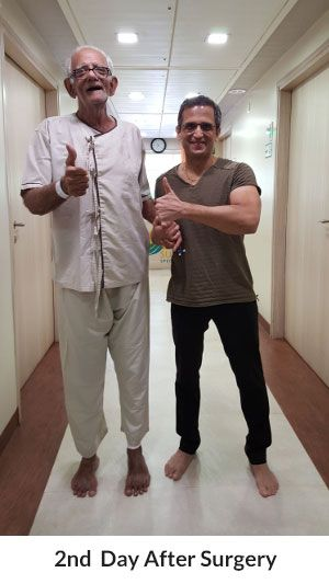 I am 78 years of age and was suffering from severe knee, back and hip pain since 2001. I am also a patient of Hypertension and Parkinson's disease and have had Cerebral Strokes in 2004 and 2009. I consulted Dr Niraj Vora for my Severe Knee and Back Pain as I was unable to walk in August 2015.Dr Niraj Vora replaced my Hip Joint in September 2015 and since then I have been free from any pain in either knee or back or hip. I have been walking freely without any pain soon after the operation.