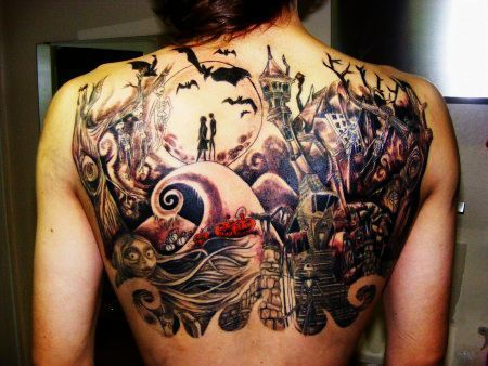 Tattoo fan? Check out this collection of 20 amazing Nightmare Before Christmas tattoos.