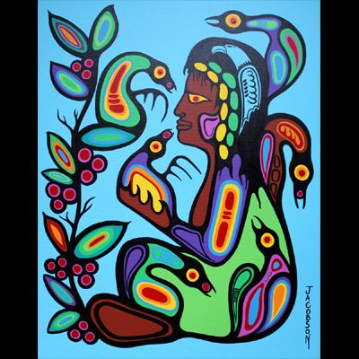 Blessings of the Inner Child    Mark Anthony Jacobson is a master woodland artist from Sioux Lookout, Ontario