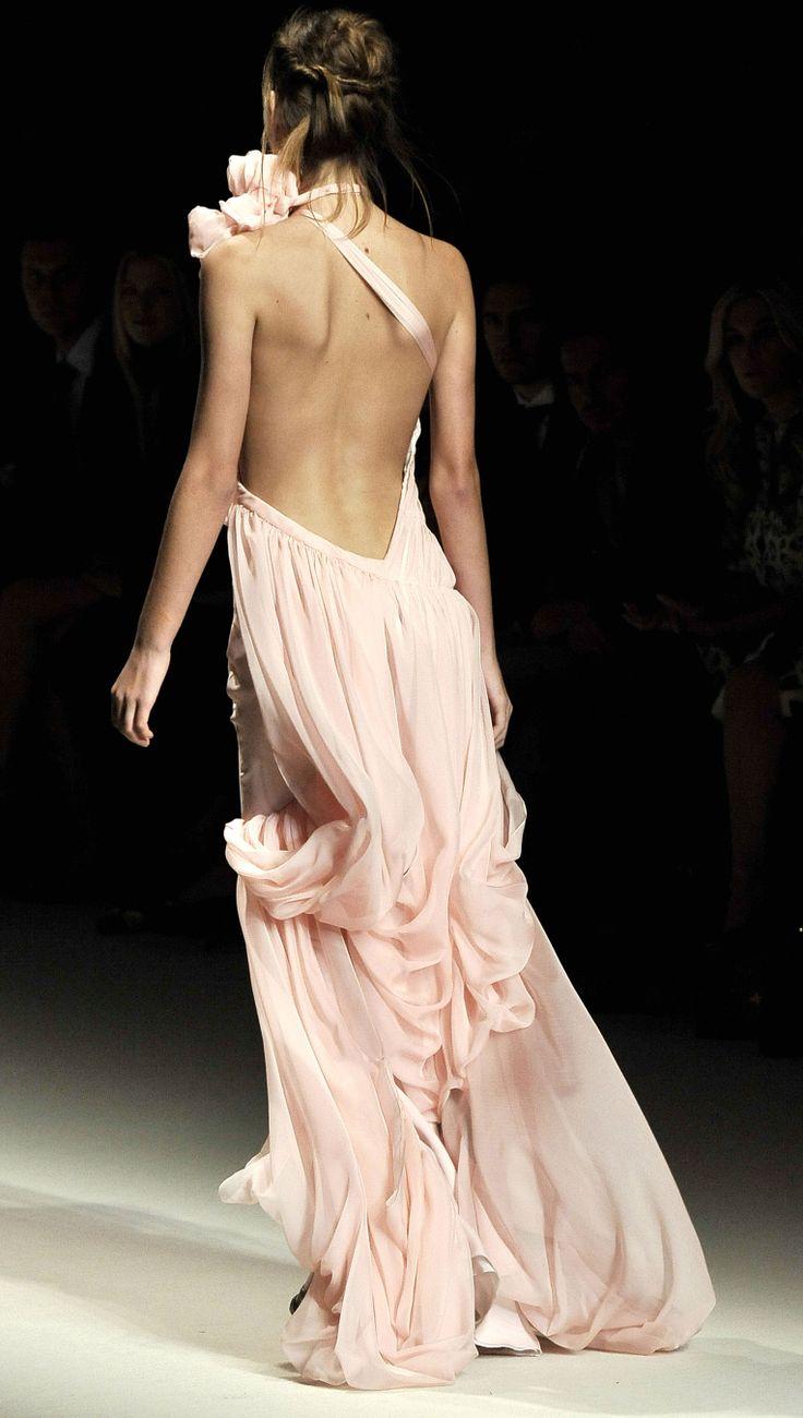 Emanuel UngaroWedding Dressses, Fashion, Blushes Pink, Style, Backless Dresses, Beautiful, Pale Pink, Open Backs, Pink Gowns