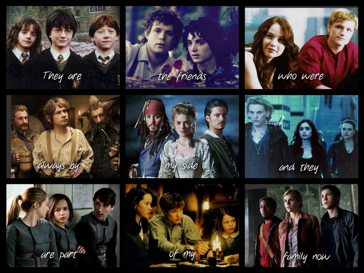 I MADE THIS MYSELF :)))))) Harry Potter, Lotr, The Hunger Games, The Hobbit, Pirates of the Carribean, The Mortal Instruments, Divergent, Narnia and Percy Jackson.
