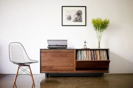 Vinyl record cabinet. Holds 160 in each drawer, 320 total