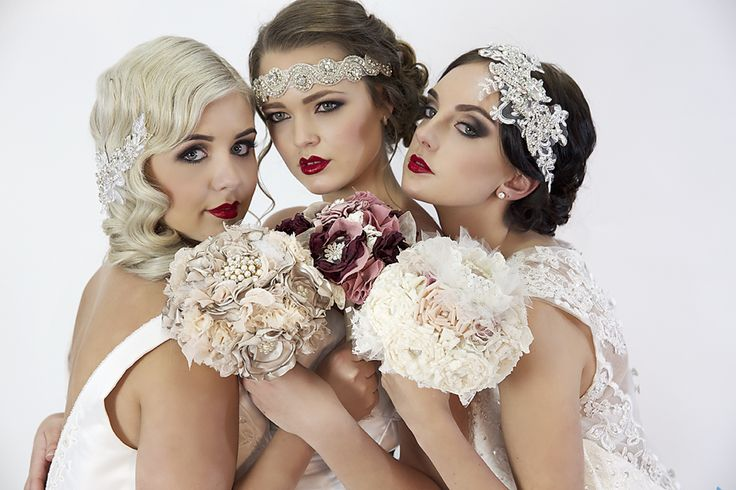 Bouquets by Bouquets and Beyond. Photography by Pinned photography. Make up by Face It Your Beautiful and Hair by Solo Hair. Models are Olivia, Chantelle, and Jasmine