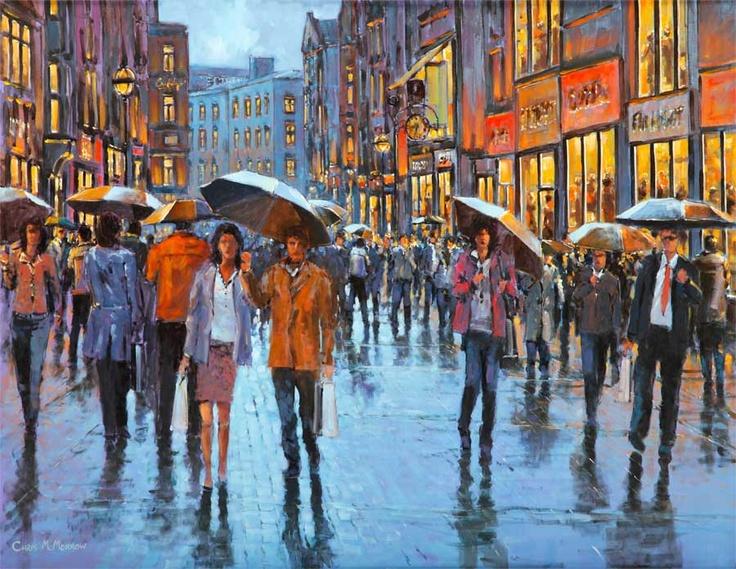 Grafton Street People by Chris McMorrow (code-261) - PRINT