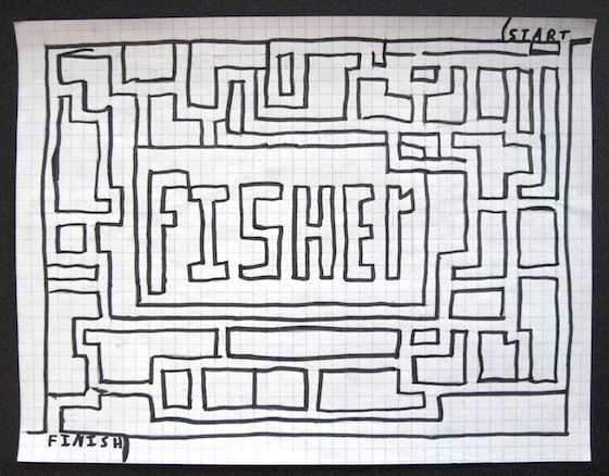 name maze drawing, art lesson. Quick art project to do with a sub or First art project of the year to learn students names.