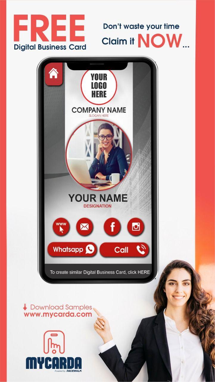 Templates Of Digital Visiting Cards Mycarda Digital Business Card Business Card Maker Digital Business