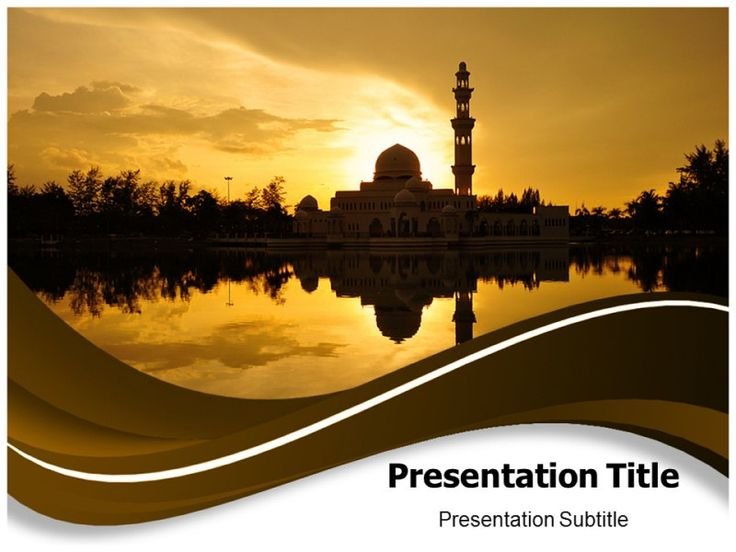 free powerpoint templates islamic art sunset mosque