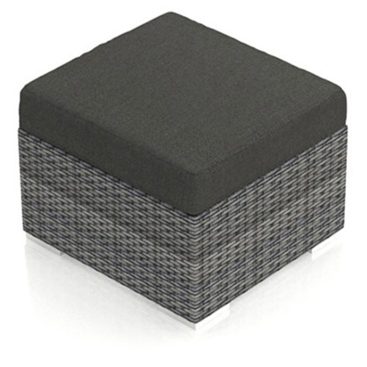 Harmonia Living District Outdoor Ottoman Spectrum Peacock - HL-DIS-TS-OT-PC
