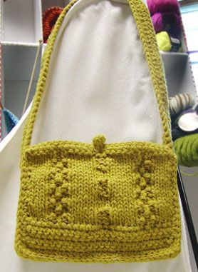 Cute little rectangle purse made by knitting two ...