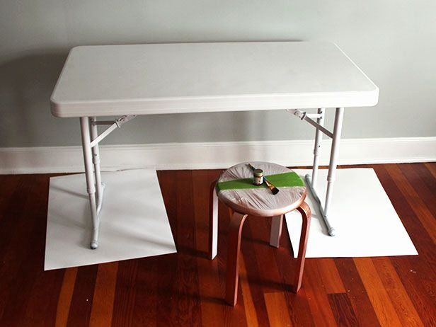 Damro Living Room Chairs Lovely Upcycle A Plastic Folding Table Into A Chic Desk Dapur