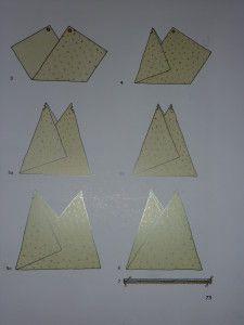 Comme promis voici le sac origami de maman elle a trouvé le modèle dans ce livre réaliser un patchwork rectangulaire de 32cm x72cm pour un sac fini 36cm de largeur et 35 cm de hauteur préparez une doublure au même dimension placez les 2 pièces endroit...