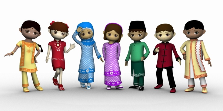Malaysian People Clipart 31 best images about T...