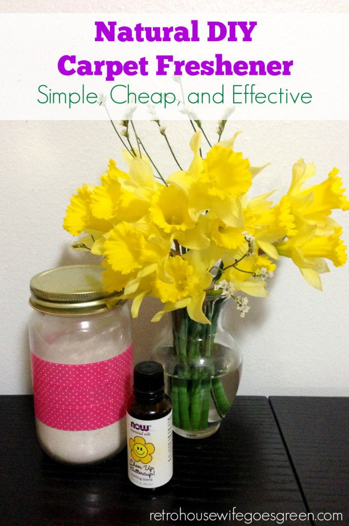 This DIY carpet freshener is simple, cheap, effective, and safe for your home and family. Once you try this recipe you will never buy carpet freshener again.