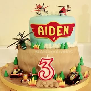 planes fire and rescue fondant cakes - Google Search