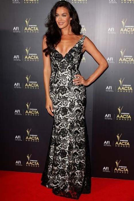 Megan Gale on the AACTA Red Carpet
