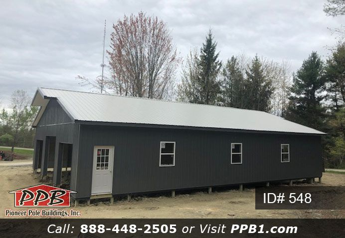 40 W X 60 L X 10 5 H Id 548 Approximate Cost 28 950 Pioneer Pole Buildings In 2020 Garage Design Grey Siding Pole Buildings