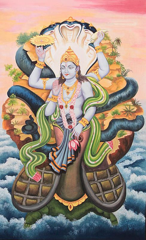 #JSRM #DidYouKnow : -  There are 24 main lila-avataras of the Supreme Being.  13th Avatara - Supreme was in the form of a huge tortoise, Kurma  Whose main mission was to act as a pivot for the Mandara Hill, which was being used as a churning rod between the demons and demigods. The scheme was that the demons and demigods wanted to produce a nectar from the ocean by this churning action which would make them immortal.  - Mamtamai Shri Radhe Guru Maa Charitable Trust