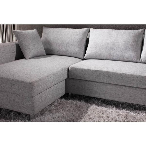 The Kyra L Shaped Grey Corner Sofa Bed Quickly And Easily Converts From A  Sofa