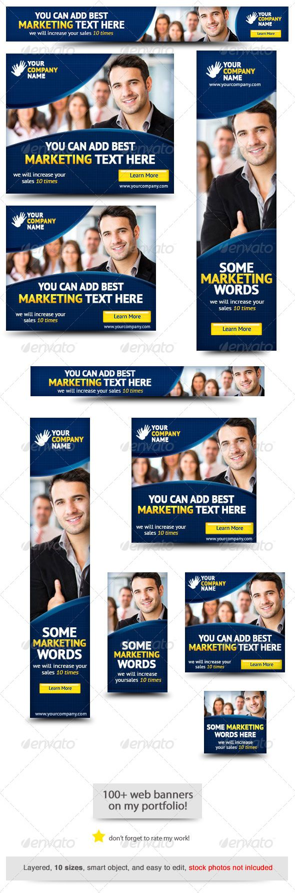 Corporate PSD Banner Ad Template 5 - Banners & Ads Web Template PSD. Download here: http://graphicriver.net/item/corporate-psd-banner-ad-template-5/4221076?s_rank=88&ref=yinkira
