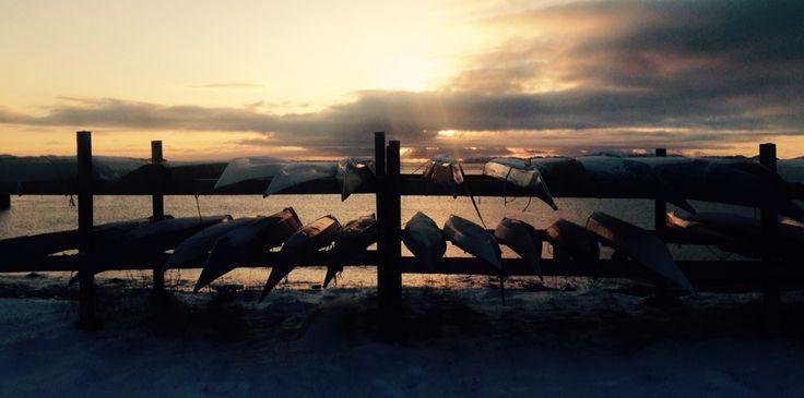 Kajak. Greenland's nature