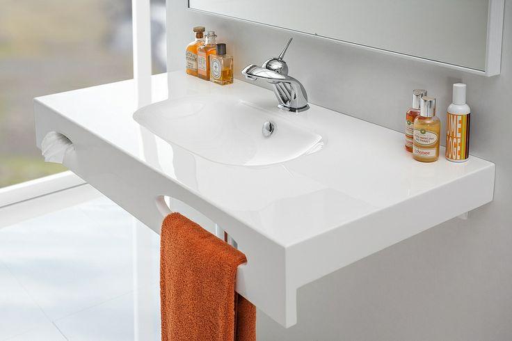 Smart bathroom washbasin / Łazienka - sprytna umywalka Smart #washbasin #bathroom #contemporary
