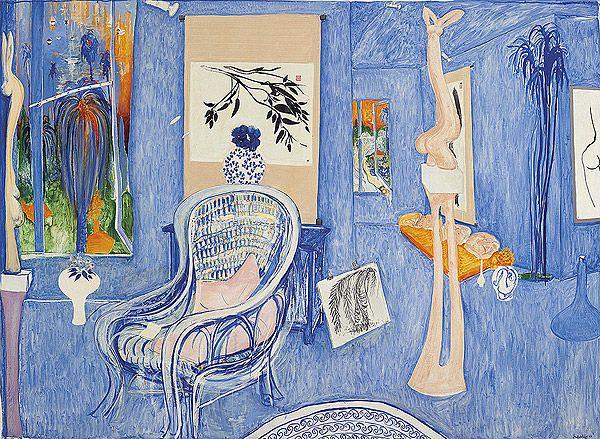 Brett Whiteley – My Armchair. 1976 Oil on canvas 206.5 x 283.5 cm