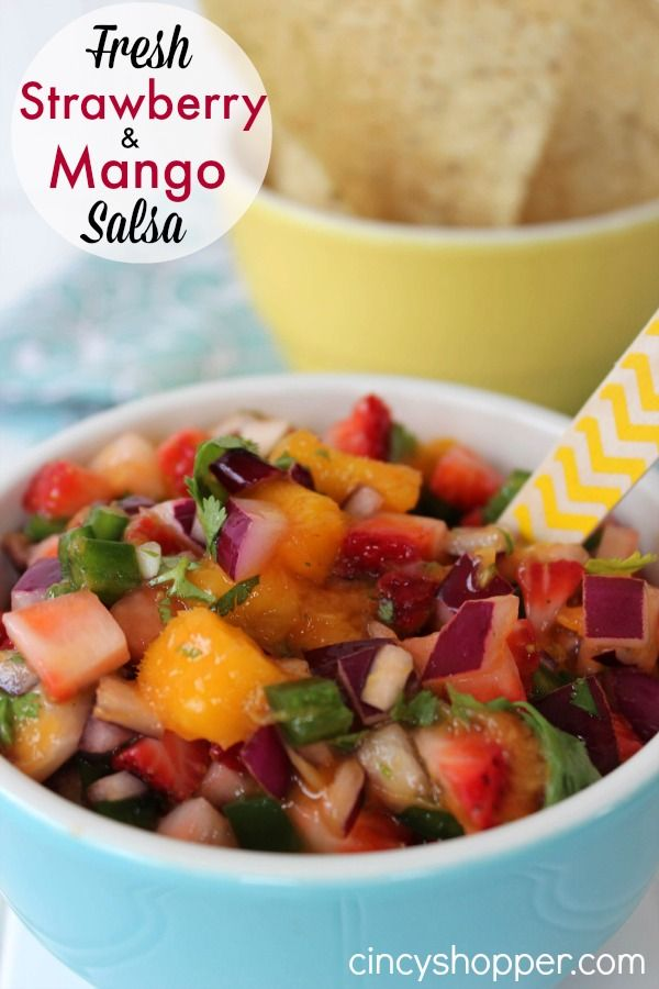 Fresh Strawberry Mango Salsa Recipe. This recipe was a hit for our grill out this past weekend. Full of great flavor!