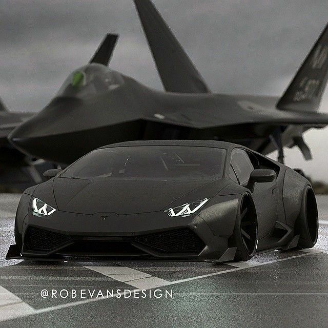Hermanos gemelos y una dupleta de aquellas! ...el Avión Fantasma B-2 Spirit y el Lamborghini Murcielago LP670-4 SuperVeloce.