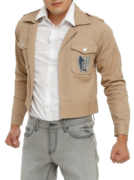 attack on titan uniform jacket tan beige costumes. Black Bedroom Furniture Sets. Home Design Ideas