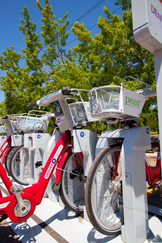 B-Cycle Station at South High School by Wash Park.