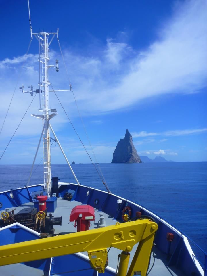 Researchers aboard the Southern Surveyor have been filming the ancient relics of coral reefs formed 8,000 years ago near Lord Howe Island.
