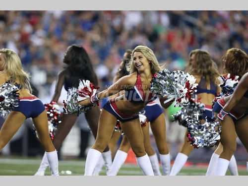 Patriots cheerleaders on game day!