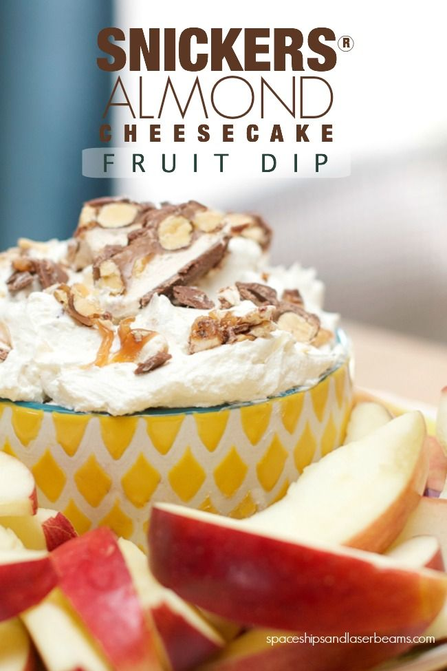SNICKERS® Almond Cheesecake Fruit Dip #WhenImHungry #CBias #Ad