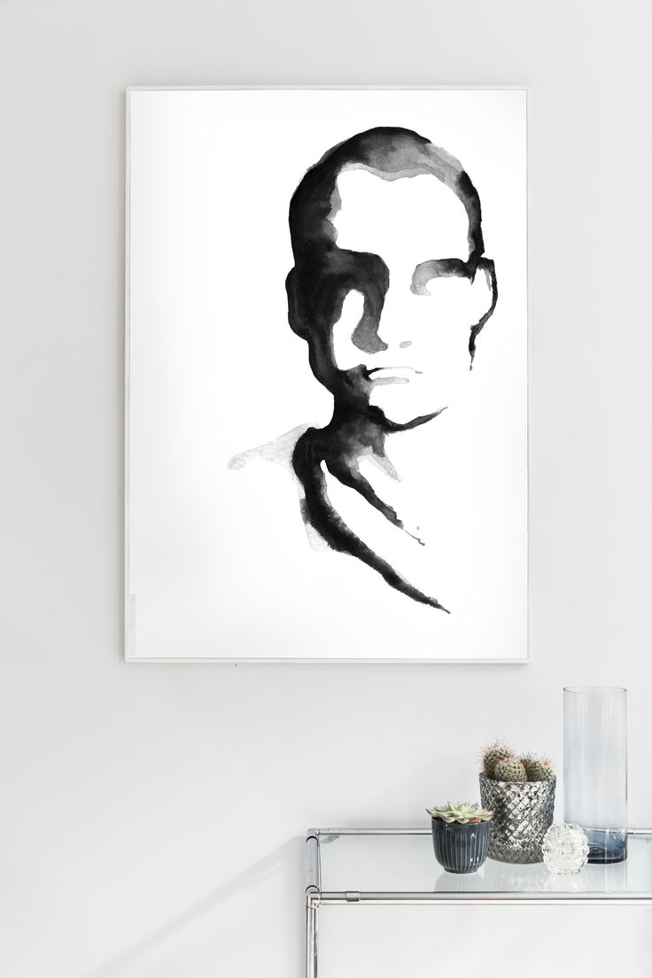 The Man Supreme illustration oozes of attitude in a monochrome universe – he is the masculine companion and counterpart to Lady Lovely. The illustration is created in ink, enhancing the facial structures and functioning as the core element in the artwork.