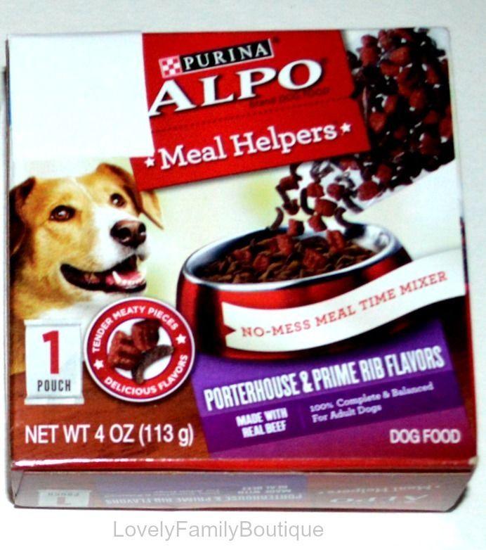 2x Purina ALPO Dog Food Meal Helpers Porterhouse & Prime Rib Flavors 2x Samples #PurinaALPOBrandDogFood