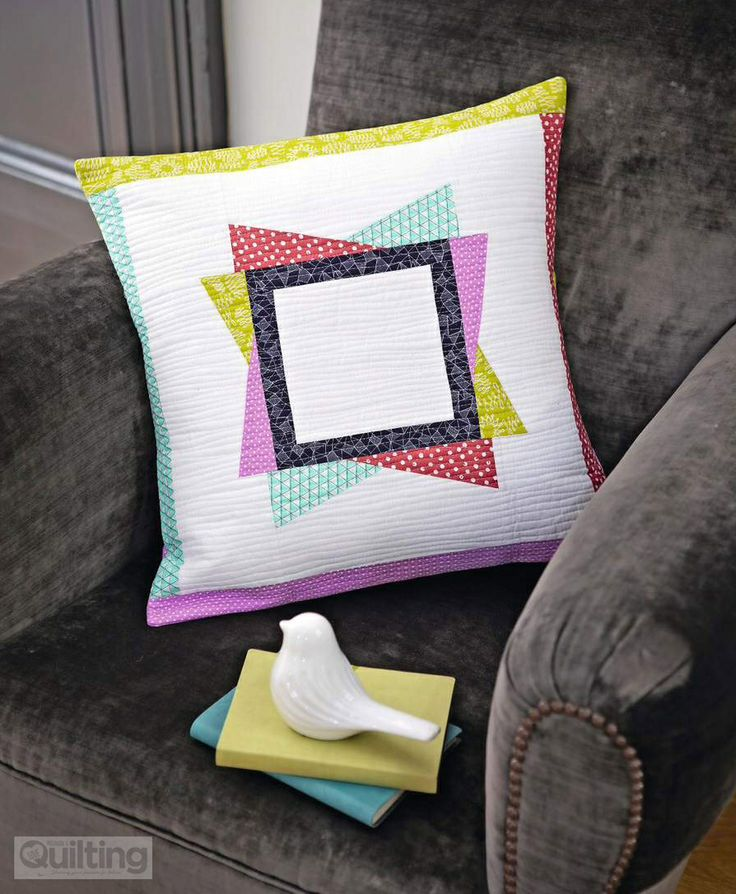 Star cushion using foundation piecing by @Holly Elkins DeGroot From issue 2 of Love Patchwork & Quilting magazine - buy a copy or subscribe for fab savings here http://www.myfavouritemagazines.co.uk/stitch-craft/love-patchwork-and-quilting-magazine-subscription/  https://www.facebook.com/lovepatchworkandquilting