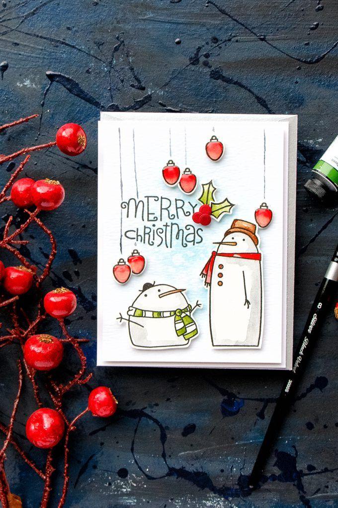 Weihnachtskarte von Yana Smakula für Paper Smooches – Wavy Wishes sentiment …   – Paper Smooches – Christmas